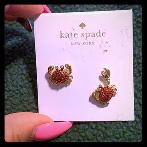 "Kate Spade ""Shore Thing"" Crab Earrings"